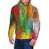 Sudadera con Forro Polar Grueso y cálido, con Capucha, Color Abstracto, con Texturas de Fondo, para Hombre, suéter con Capucha como Cuadro M