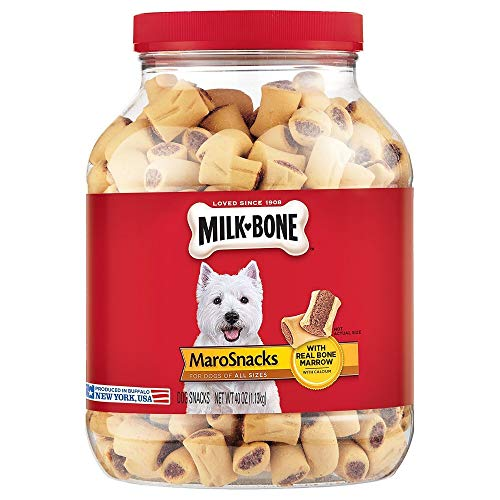 Milk-Bone MaroSnacks Dog Treats for Dogs of All Sizes, 40 Ounce Jar