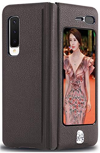 Mking Tech Adecuado para Samsung Galaxy Fold 5G / W20 5G [SM-W2020] Carcasa Plegable para teléfono móvil. Funda de Cuero de una Pieza Estilo Libro para teléfonos móviles 4G y 5G