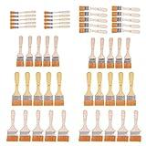 50 x Malerpinsel mit Holzgriff Pinselsatz 5 Größen Pinselset Pinsel Set Flächenstreicher Lasurpinsel Streichen Lackiere Farbpinsel Lackieren Nickel für Kunst, Fabrik, Alltag usw.
