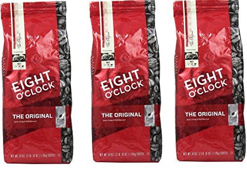Eight O Clock Coffee, Original XpQsuB Whole Bean, 42 Ounce Package, 3 Pack