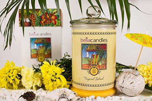 BellaKerzen - Tropeninsel - Kerze mit Schmuck Überraschung - Duftkerze das perfekte Geburtstags Geschenk …