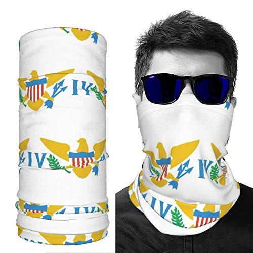 SD3DPrint Virgin Islands US Flag Unisex Balaclava Face Scarf Headwear Neck Gaiter Dust Mask Sun UV Dust Wind Proof 2 PCS