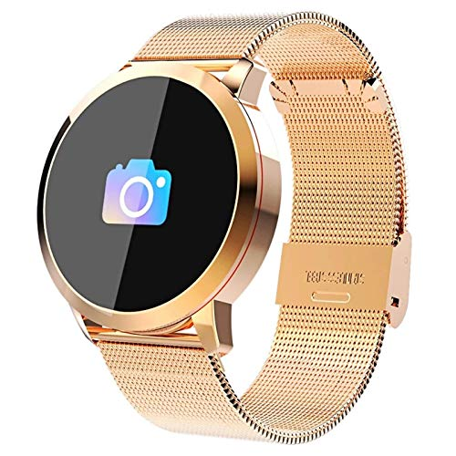 Gymqian Nuevo Q8 Oled Bluetooth Smart Watch Smart Acero Impermeable Impermeable Dispositivo Wearablewatch Reloj de Pulsera Hombres Mujeres Fitness Tracke, C Exquisito/A