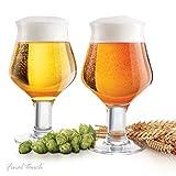 Final Touch GG5019 - Juego de 2 vasos de cerveza (cristal, 600 ml)