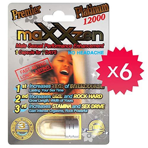 *Best Seller* 100% Authentic Premier Maxxzen Platinum 12000 Male Performance Enhancement Pill (6)
