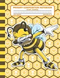 Primary Composition Notebook Story Journal: Cute Dabbing Bee Notebook with Picture Space, Title Lines, Dotted Midlines Handwriting Practice Paper with ... First and Second Grade, Elementary School