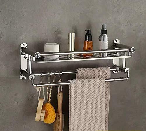 Toallero de acero inoxidable, estante de baño, toallero, estante de almacenamiento de cocina, colgante de pared para inodoro-Los 60cm