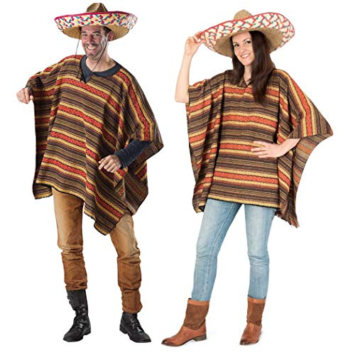 KarnevalsTeufel Poncho EL Sancho Mexikaner Fasching Karneval
