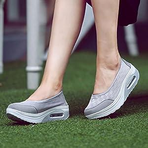 beautyjourney Scarpe sneakers estive eleganti donna scarpe da ginnastica donna scarpe da corsa donna Sportive scarpe donna stringate – Moda donna piattaforma scarpe sport Sneakers