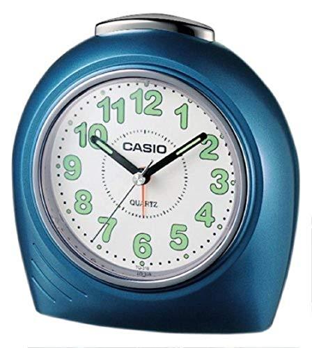 Casio TQ-318-2EF Analoge wekker, kunststof, blauw medium