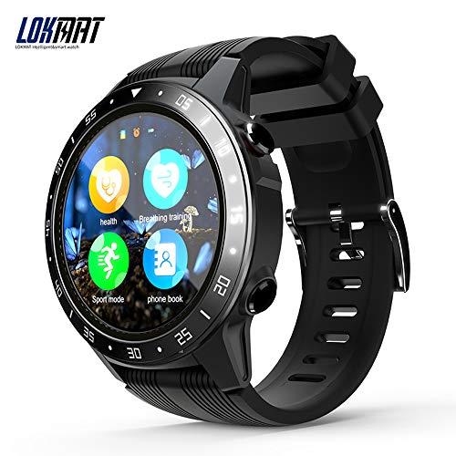 Docooler LOKMAT Smart Watch Schermo da 1.3 Pollici BT3.0 4.0 Impermeabile Pedometro Allarme frequenza cardiaca Telecamera remota GPS Sport Smartwatch per Android 4.4 / iOS 8.0