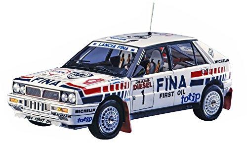 Hasegawa-1/24 Lancia Delta HF16v Sanremo Rally Modellino in plastica, Accessori per Treni, Hobby, modellismo, Multicolore, 020343