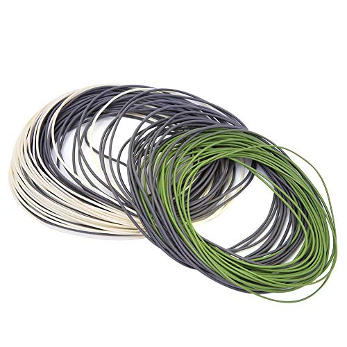 Worii 3 Farben PVC Nylon 1PCS 90ft Fliegenfischerschnur, Nylon Fliegenfischerschnur, schwimmend für Angelliebhaber Angelgerät Meer/Frischfischen(DT4F)