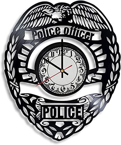 Dream Police Academy - Reloj de Pared de Vinilo para graduación, Regalo para Mujer, Reloj de Pared para Hombre, policía