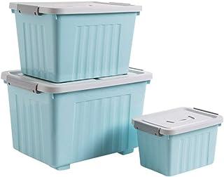 Boîte de rangement XIAOXIAO 3X Coffre À Jouets Plastique Armoire De Rangement avec Boucle Couverture avec La Main Manipula...