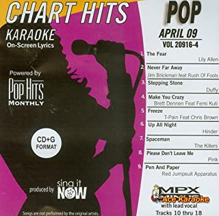 Pop Hits Monthly Pop Karaoke Music CDG - April 2009