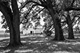 18 x 24 Black & White Canvas Wrap of Barn at The 1,800-acre Lonesome Pine Ranch...