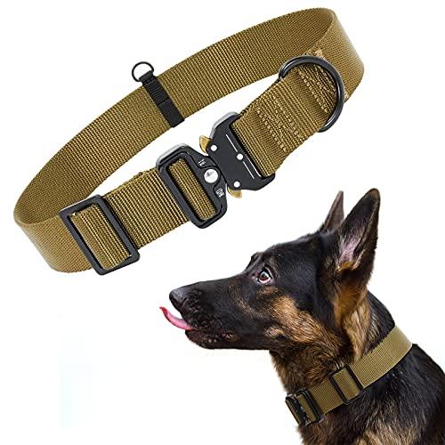 XIAOWU Collar de nailon para perros con hebilla de metal suave, para cachorros, pequeños, medianos y grandes.