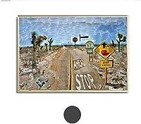 MKAN デビッドホックニー1986パールブロッサムハイウェイキャンバス絵画巨大なポスター壁アートプリントリビングルームの写真-60X80Cmフレームなし