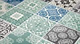 Moonwallstickers - Adhesivos para Azulejos, Revestimiento para PAREDES, para Baño y Cocina, Hazlo tu Mismo, Paquetes con 36 (Azulejos Azul Pastel - 20  x 20 cm)