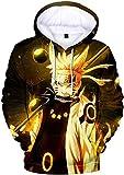 KMNL Hombre Naruto Sudaderas con Capucha Figura Impresa Anime diseños de Cosplay-XXL_Amarillo_1...