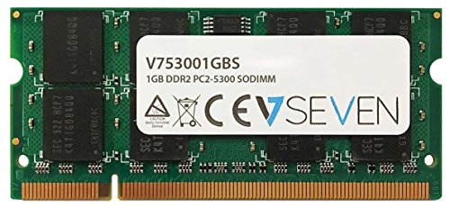V7 V753001GBS V7 1GB DDR2 PC2-5300 667Mhz SO DIMM Notebook módulo de memoria - V753001GBS