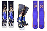 Forever Fanatics Golden State Steph Curry #30 Basketball Crew Socks ✓ Stephen Curry Autographed ✓ One Size Fits 6-13 ✓ Made in USA ✓ Ultimate Basketball Fan Gift (Size 6-13, Curry #30)
