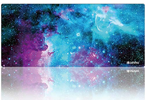 iKammo Large Galaxy Gaming Mouse Pad Full Desk Mousepad Extended Cute Computer Mouse Pad XXL Big Office Desk Mouse Mat/Pad with Waterproof Surface-Optimized Gaming Surface (XXL-038, Blue Galaxy)
