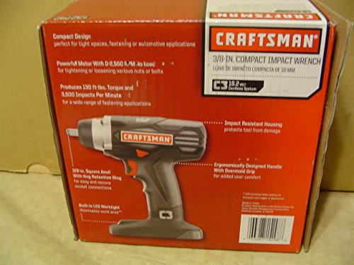 Craftsman 19.2v C3 3/8' Impact Wrench (Bare Tool Only - No Battery - No Charger - Bulk Pack)