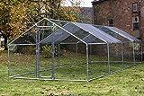 Bulhawk - Jaula de Acero galvanizado Resistente para Mascotas, gallinas, Conejos, Patos, Pollos, Aves de Corral, 3 tamaños (3 m x 2 m, 3 m x 4 m, 3 m x 6 m)