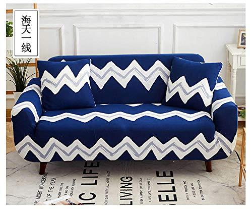 Allenger Non-Slip Stretch Sofa Throws,Stretch-Sofabezug mit Blumenmuster, universeller Rutschfester Sofabezug für alle Jahreszeiten, waschbar - 7_145-185 cm