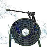 HTDHS Lange Sprühdüse für Gartenschlauch Sprühpistole Wassergewehr Waschen für Haustiere Gartenarbeit Sprinkler (Size : 7.5m Suit)