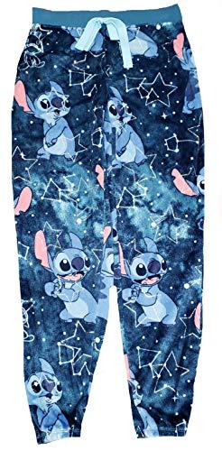 Disney Lilo & Stitch Superminky Fleece Jogger Sleep Pants - Medium Navy, Medium 8/10