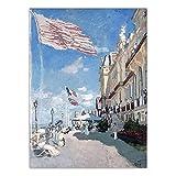 Pintura al óleo clásica francesa de Claude Monet, decoración del hogar, impresión en lienzo, arte, pintura de pared, póster, pintura en lienzo A9 15x20cm