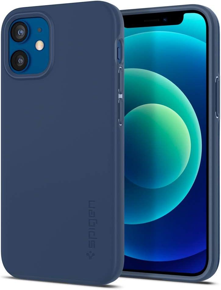 Spigen Thin Fit Designed for Apple iPhone 12 Mini Case (2020) - Deep Blue