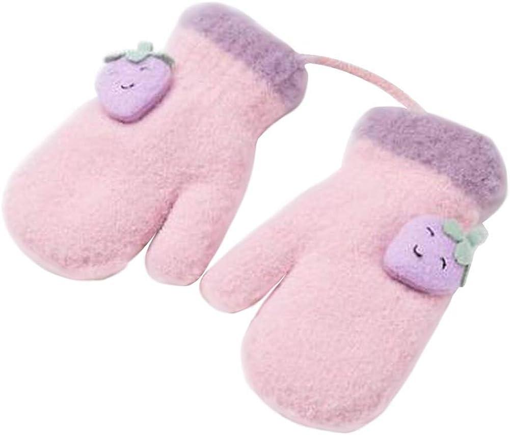 Lovely Knitted Baby Mittens Warm Winter Children Mittens Baby Gloves #01