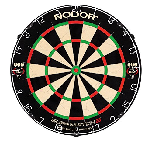 Nodor Supamatch 3 Dartscheibe und Red Dragon Checkout Card