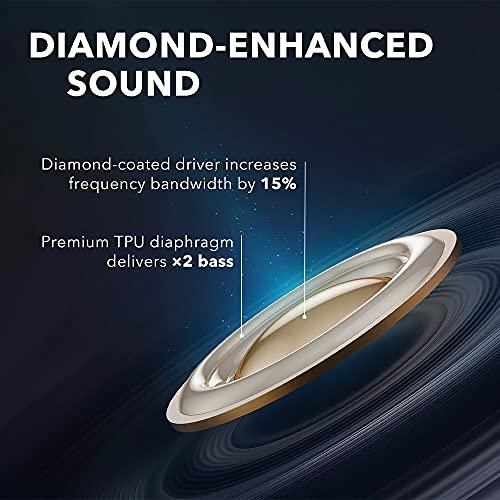 Soundcore Liberty Air 2 audífonos inalámbricos, controladores con revestimiento de diamante, auriculares Bluetooth con 4 micrófonos, 28H Playtime, HearID personalizado EQ, Bluetooth 5 auriculares con cancelación de ruido, carga inalámbrica