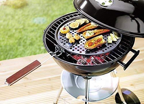 Tazado Garden-Line van Tazado, zonder mij, is dat geen barbecuebestendig. Super grillpan met verstelbare greep. Geperforeerd voor perfect koken en grillen. Diameter 33 cm. !