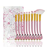 Juegos de pinceles de maquillaje, Citicolor 10 PCS Flamingo Shape Design Colección de pinceles cosméticos Herramienta de pinceles de cerdas suaves con bolsa de cosméticos