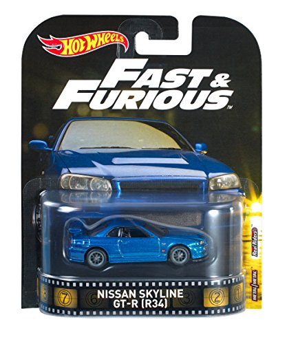 Hot Wheels Nissan Skyline GT-R (R34) Retro 2017 nuevos