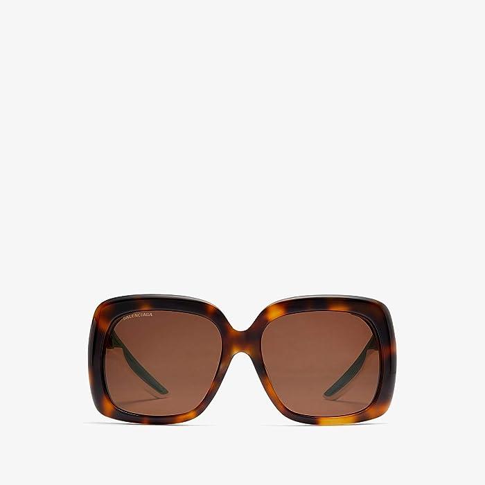 Balenciaga  BB0054SA (Havana) Fashion Sunglasses