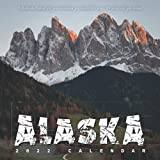 """Alaska 2022 Calendar: 12-month Calendar - Square Small Gorgeous Calendar 8.5x8.5"""" for planners with large grid for note"""
