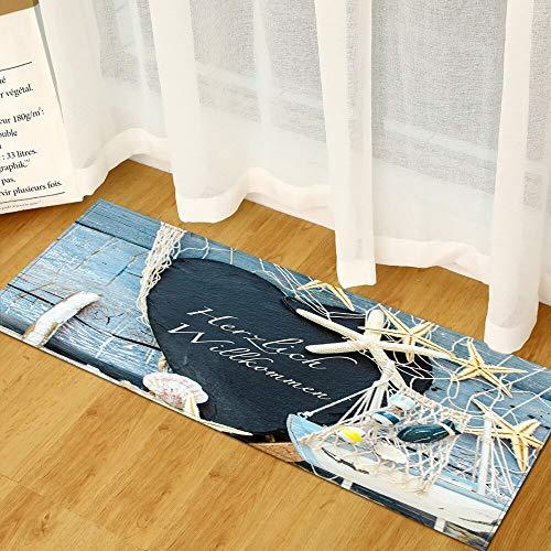 Playa Impresión escénica Hogar Felpudo Pasillo Sala de Estar Tapetes Alfombra Decoración Alfombras de baño Alfombra de Cocina Alfombra de Piso A10 40x60cm