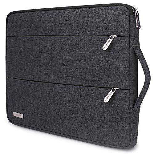 SINSIM 14 Inch Laptop Sleeve Case Briefcase Notebook Handbag for 15' MacBook Pro / 15' Surface Book 2/3 / 14' Lenovo Ideapad 330/14' HP ProBook 640 G4/645 G4 / 14' HP Chromebook, Dark Grey