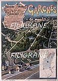 PostersAndCo TM Garden Laufstall / Kunstdruck, 60 x 80 cm, Vintage/Retro