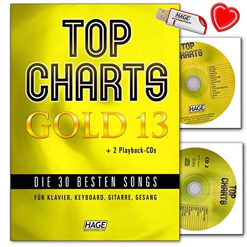 Top Charts Gold 13 - Libro de canciones para piano, teclado y...