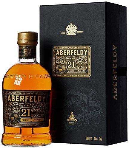 Aberfeldy 21 Years Old Highland Single Malt Scotch Whisky Limited Release 40% Vol. 0,7 l + GB