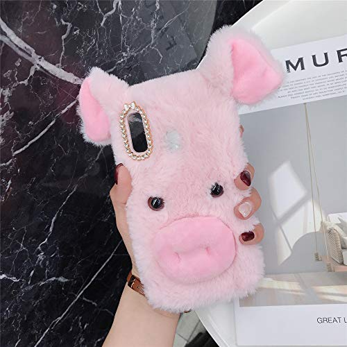 ZYQ Rosado 3D Pig Style Funda Caso TPU Silicona Case para HTC Desire 10 Life Style Gel Shell Carcasa…